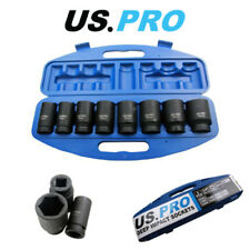 "US PRO 8pc 3/4"" Drive Deep Impact Sockets 24, 27, 29, 30, 32, 35, 36, 38mm 1386"