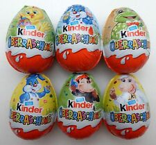 6 MOTIVEIER OSTERN 2017 HIPPE HASEN SIPPE GERMANY EASTER EGGS KINDER SURPRISE