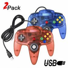 2X Wired USB N64 Controller PC Game pad Joystick For MAC Linux Android Raspberry