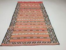 Moroccan Berber Kilim Rug shabby vintage old wool country home Kelim 180x100cm