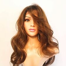 Synthetic Wavy Lace Front Medium Brown Wig 18""