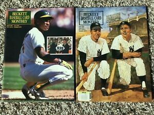 Beckett Baseball Card Price Guides ~ April 1991  Issue 73 & June 1991 Issue 75