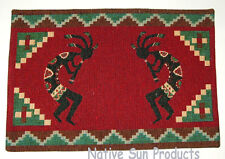 """Placemats Table Mats Southwestern Woven 13x19"""" Great Quality Kokopelli RED#11003"""