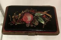 Mid 1800's FRENCH Coin Purse * PARIS *VICTORIAN Lacqured MOTHER OF PEARL Inlay