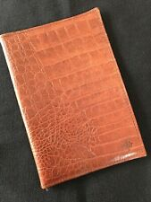 MULBERRY PASSPORT/NOTEBOOK COVER COGNAC CROC PRINT RARE VINTAGE NILE LEATHER
