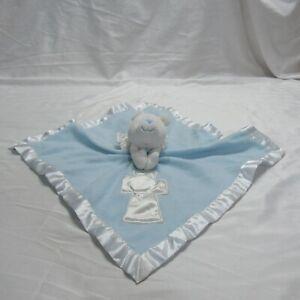 Baby Boom Light Blue Angel Bear Lovie Lovey Security Blanket Cross