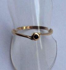 Ring mit Saphir Gold 585 Gelbgold  14K Gr. 55 - 17,5 mm
