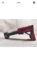 Red Replacement Adjustable Collapsible Butt Stock for NERF N-Strike Dart Guns