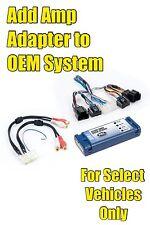 2008 2009 2010 08-10 Chevrolet Silverado Add An Amp Amplifier Adapter Interface