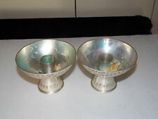 Vintage pair of silverplate candle stick holders