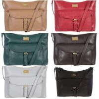 Women's Portobello W11 Etty Soft Fine Leather Cross Body Handbag Bag RRP £110