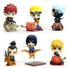 """Set 6pcs Naruto Shippuden Petit Chara Land 2"""" Figure Series 1 New In box"""