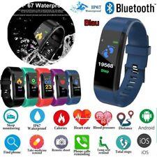 115Plus Smartwatch Armband Pulsuhr Schrittzähler Fitness Tracker Wasserdicht Blu
