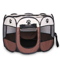 1X(Portable Folding Pet tent Dog House Cage Dog Cat Tent Playpen Puppy Kenne br1