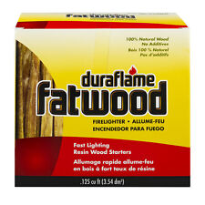 Duraflame Fatwood Resin Rich Firelighters-.125cf BBQ Grill Fire Pits Camping
