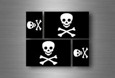 4x adesivi adesivo sticker bandiera vinyl tuning pirata teschio pirati r1
