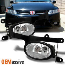 Fits 06-08 Civic 2 Doors Coupe Bumper Driving Clear Fog Lights w/Switch + Bulbs