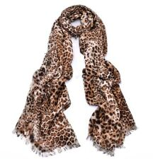 Women Fashion Scarf Classic Leopard Lightweight Floral Print Stripe Wrap Shawl
