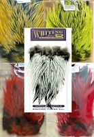 Whiting Brahama Silver Badger Saddles 2 Sizes Dyed Colours