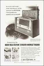 "1953-RCA Victor ""Strato-World"" Radio`Photo/Model`Vintage Ad"