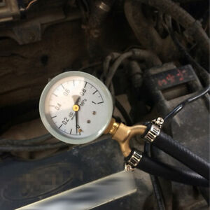 Universal Type Fuel Pressure Tester Gauge Analogue Gasoline MPa Hose Adapter Kit
