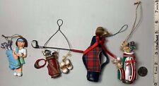 4 Vintage Golf Bag Golf Ball Christmas Ornaments Collectible golf collector