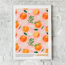 Orangen-, Obst-, Obst Wandbild, Wohnkultur, Orange Obst Kunst