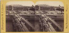 Paris France Photo Stéréo Stereoview Hippolyte Jouvin Vintage albumine ca 1860