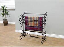 Living Room Quilt Rack Black Bronze Rub Blanket Bedspread Bedding Stand Display