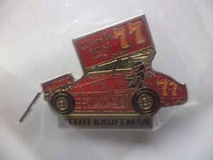 Keith Kauffman #77 Hamilton Sprint Car World of Outlaws WoO PA Posse Pin NEW