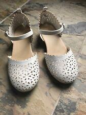 Girls Dress Shoes Gymboree Size 1 White Hardly Worn Eyelet