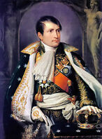 Oil painting Andrea I Appiani - napoleon king of France standing no framed art