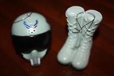 Us Air Force Flight Helmet & Boots Christmas Ornament Set NIB