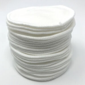 Make-up Remover Pads Reusable Bamboo Cotton Washable Re Use Face Wipes White