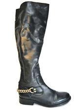 Steve Madden Olgga Women's Sz: 7.5 Black Tall Fashion Leather Boots,Used