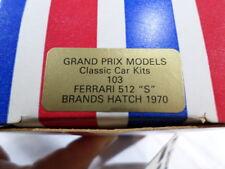 g Grand Prix Models BOXED UNUSED No. 103 Ferrari 512 S Brands Hatch 1970 1/43