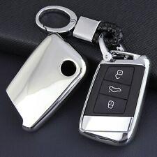 For VW Atlas Teramont Skoda Superb Kodiaq Smart Car Key Fob Chain Cover Case