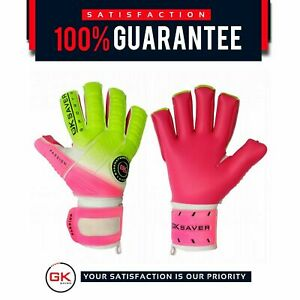 goalkeepers saver Gloves Football Semi Negative Flat Mix Cut Passion PS08 Pink