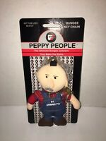 Vintage 1998 Peppy People Bungee Key Chain-Window Suction Cup- Grandpa