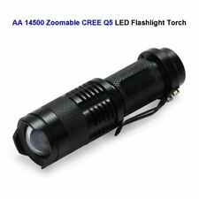 Zommable LED Torch Mini CREE Q5 Bicycle Flashlight Light 3 Modes 100 Pcs/Lot New