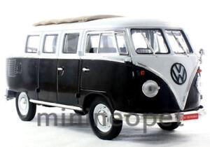YAT MING 82327 1962 VW VOLKSWAGEN MICROBUS BUS 1/18 1 OF 600 2TONE BLACK / WHITE