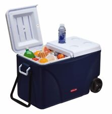 75-Quart Blue Wheeled Picnic Camping Ice Cold Chest Cooler Leak Resistant