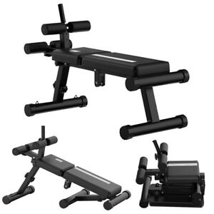 Foldable Sit Up Bench Core Workout for Fitness Training Exercise Home Gym Black