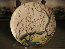 Asian Japan fp Collector Plate 1982 Apple Blossom Tree Painting