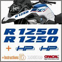 2pcs R1250 BMW Blu R 1250 GS 2019 HP Motorrad ADESIVI STICKERS Adventure