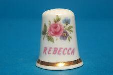Girl's Name 'Rebecca' China Thimble B/93