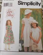 SIMPLICITY SEWING PATTERN Child & Girls Dress Hat Rare Editions UNCUT 9459