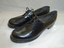Vtg 70's Weinbrenner Women's sz 9 A Black Leather Military Dress Shoes New NOS