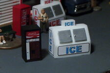 2 vending Machines ICE Chest and Soda Pop  HO SCALE