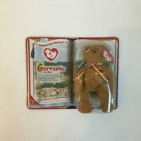 TY Teenie Beanie Babies MCDONALDS International Bears II Germania New Unopened